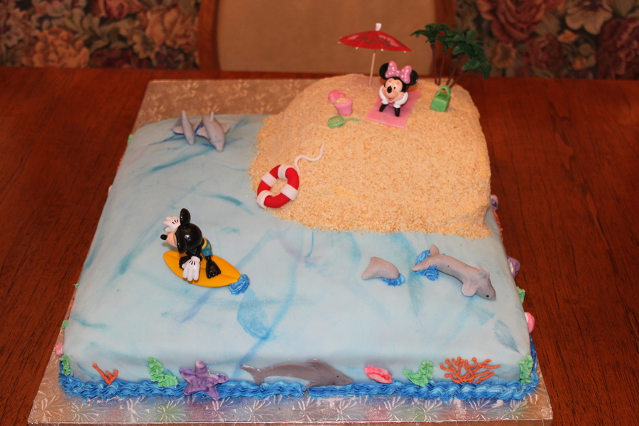 Dolphin Theme Birthday Cake  on Cake Central