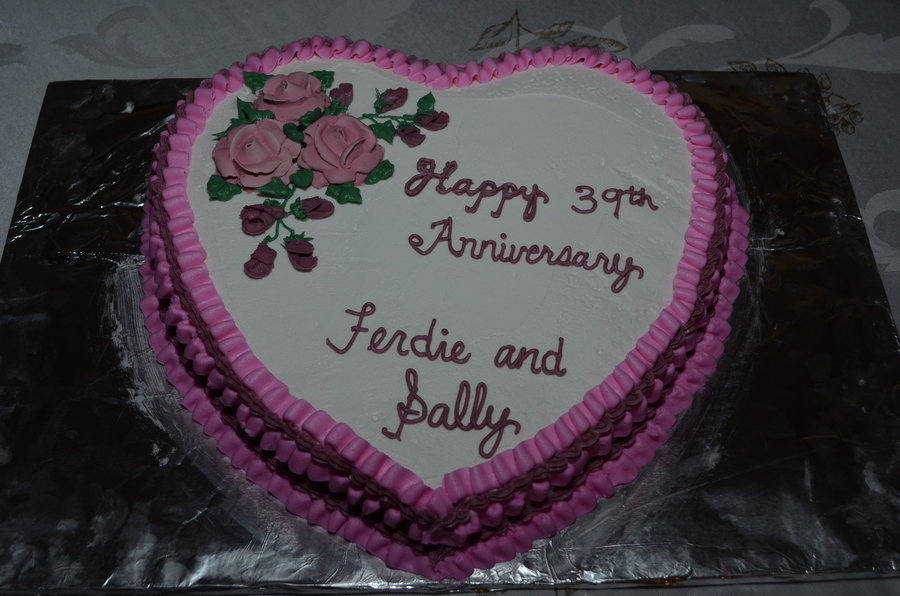 Happy 39th Anniversary Ferdie And Sally Cakecentral