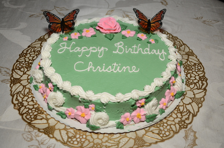 Christine Birthday Photo Cakes