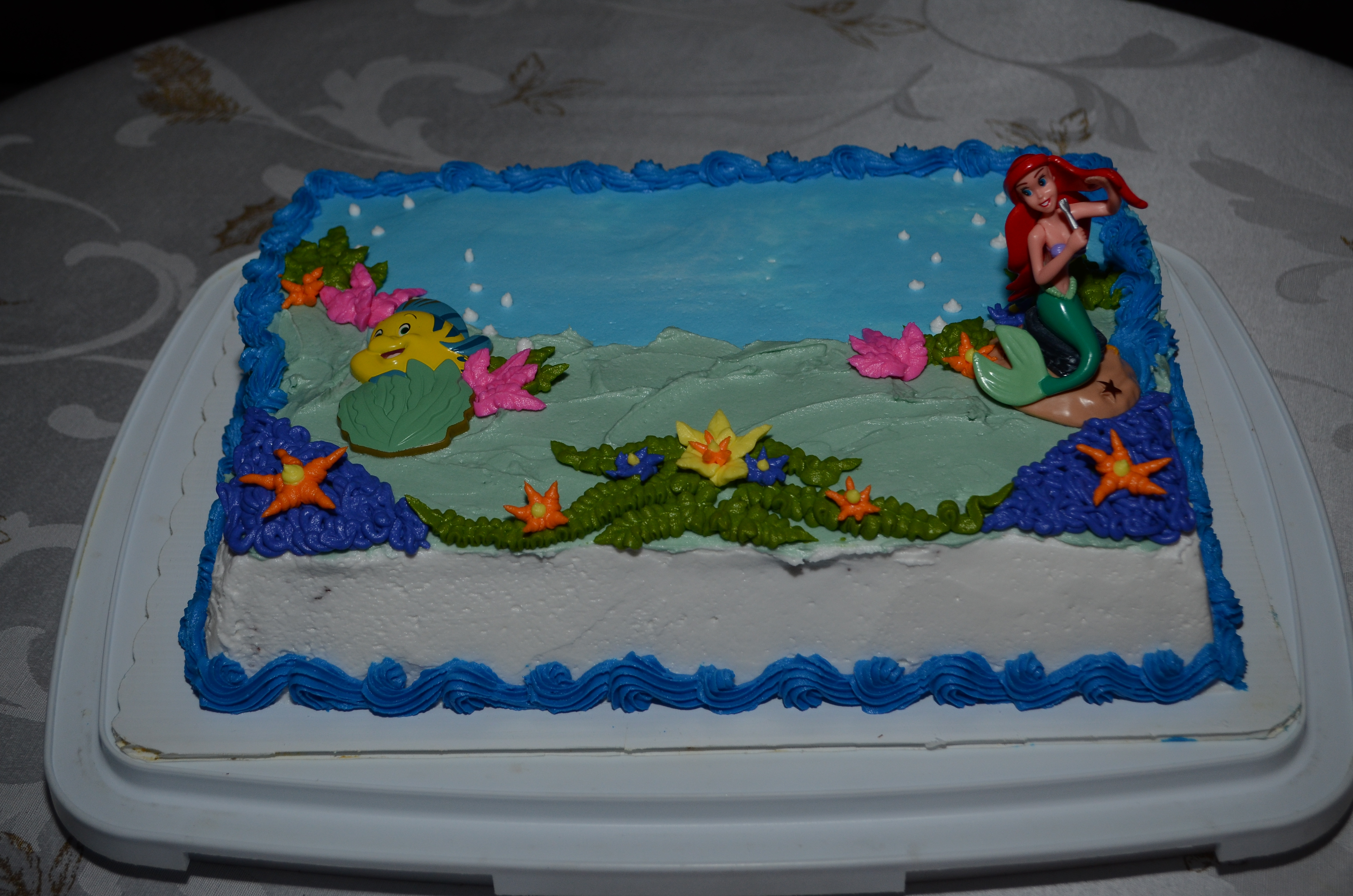 Ariel Birthday Cake For Carin Cakecentral Com