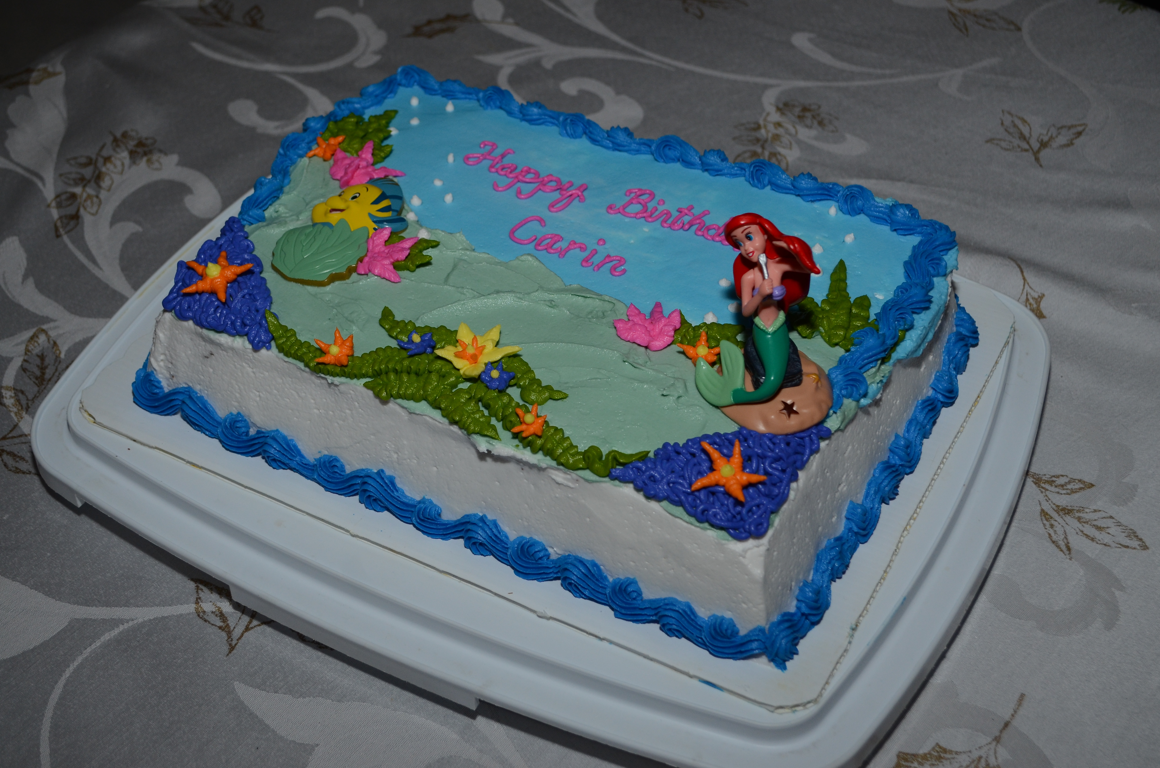 Ariel Birthday Cake For Carin CakeCentralcom
