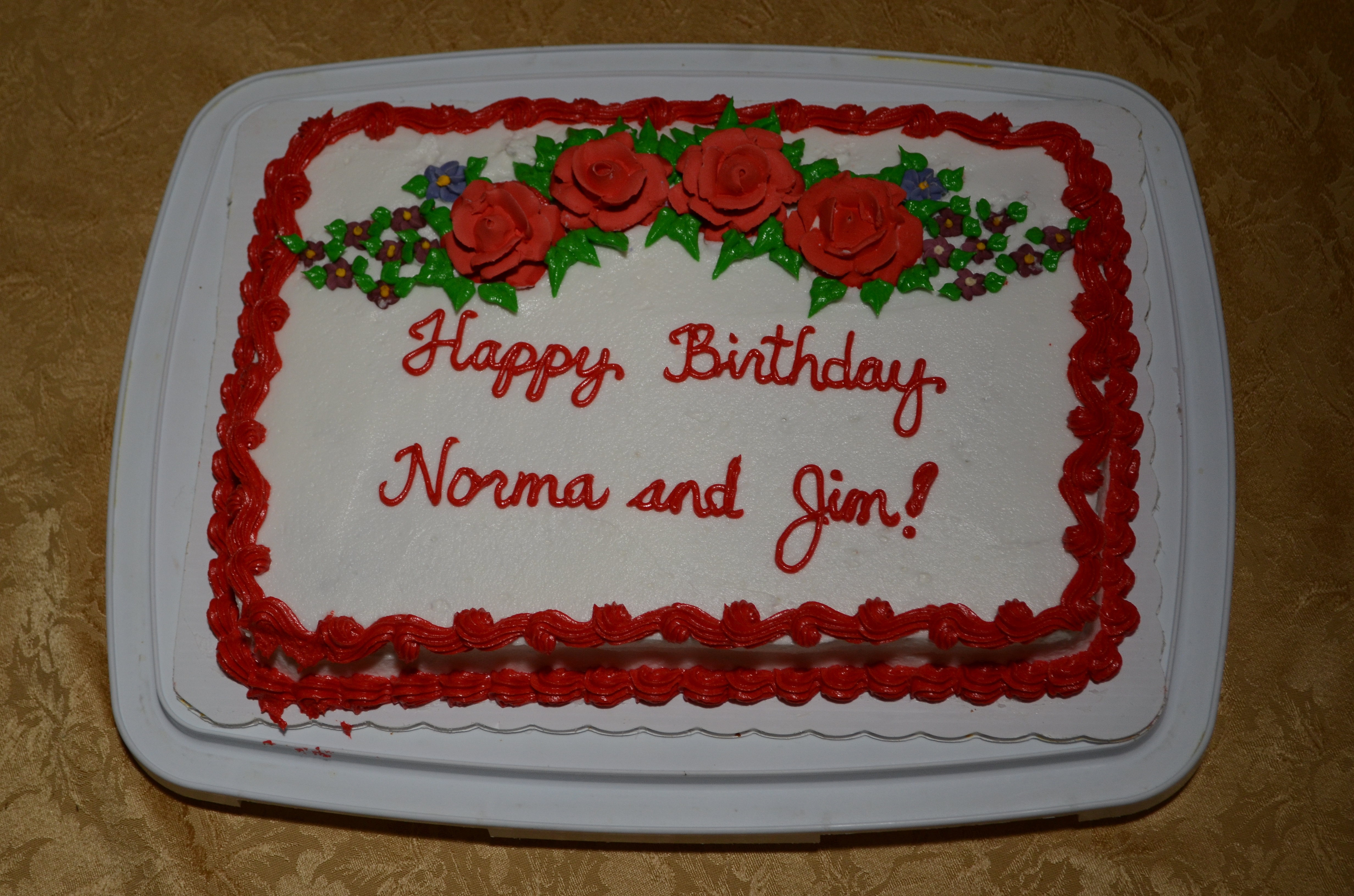 Happy Birthday Norma And Jim Cakecentral