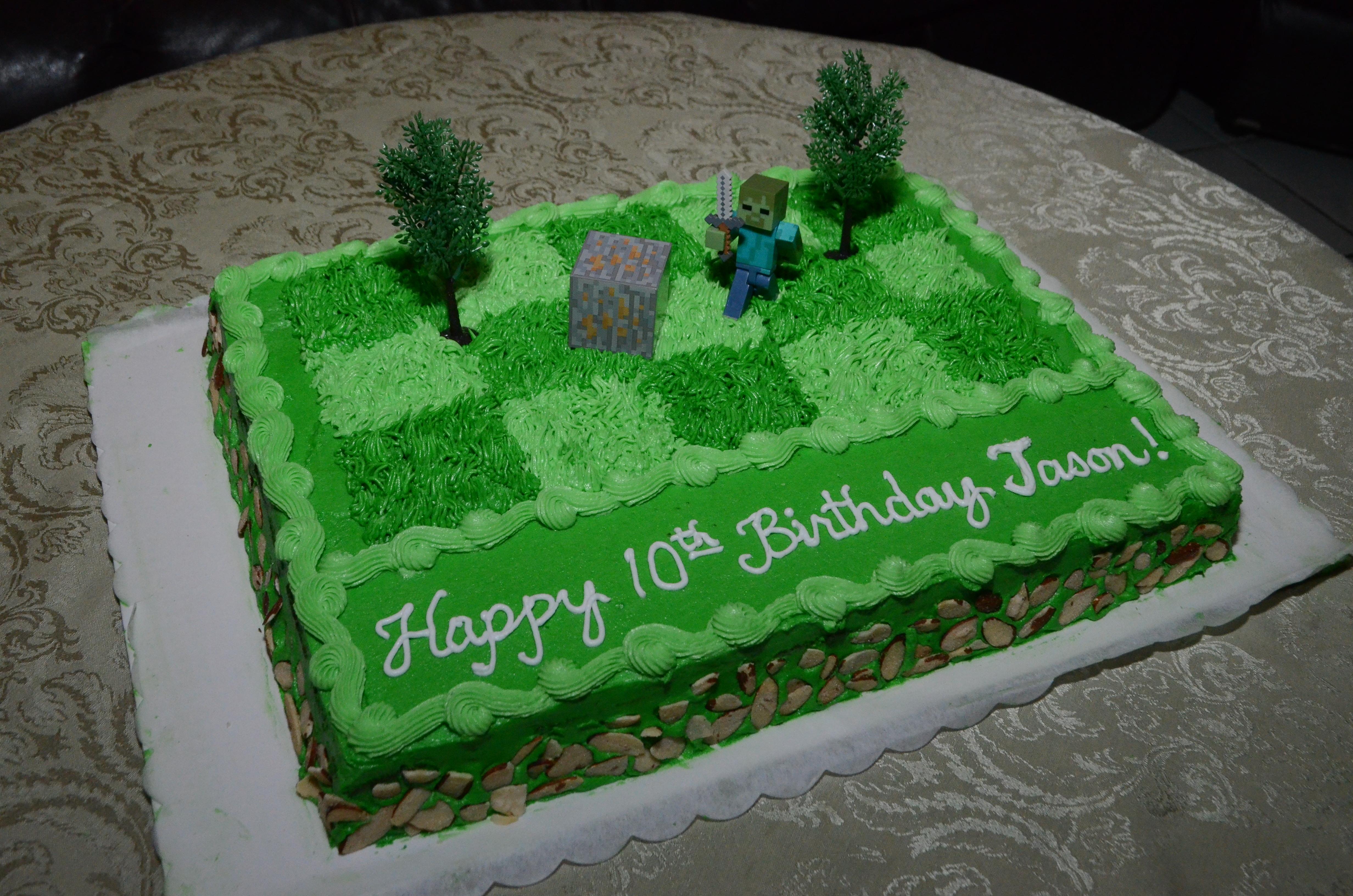 Minecraft Zombie Birthday Cake For Jason Cakecentral
