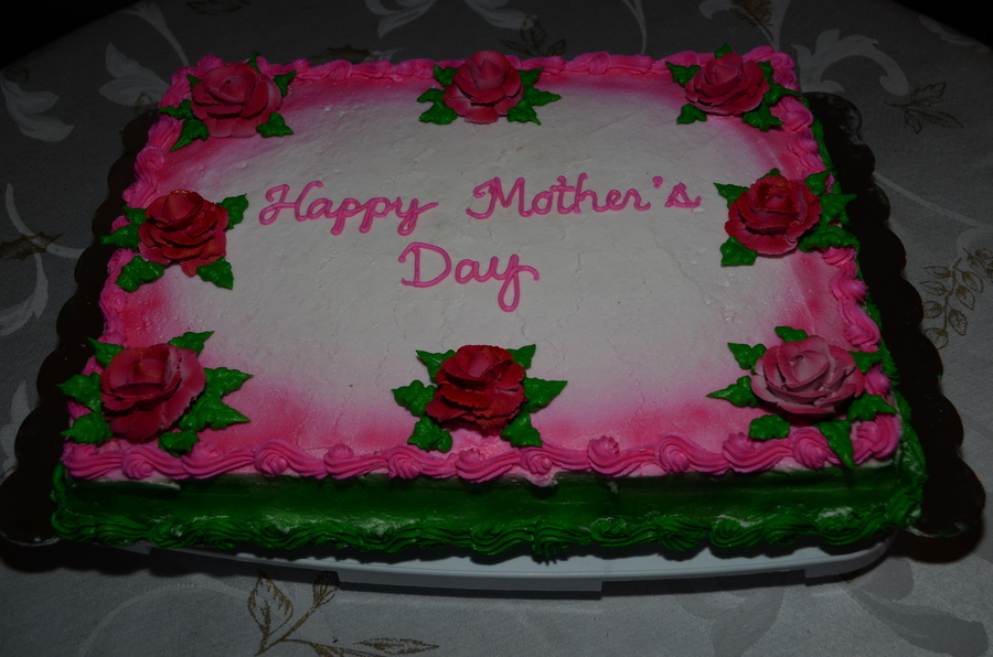 Happy Mother S Day Airbrushed Cake Cakecentral Com