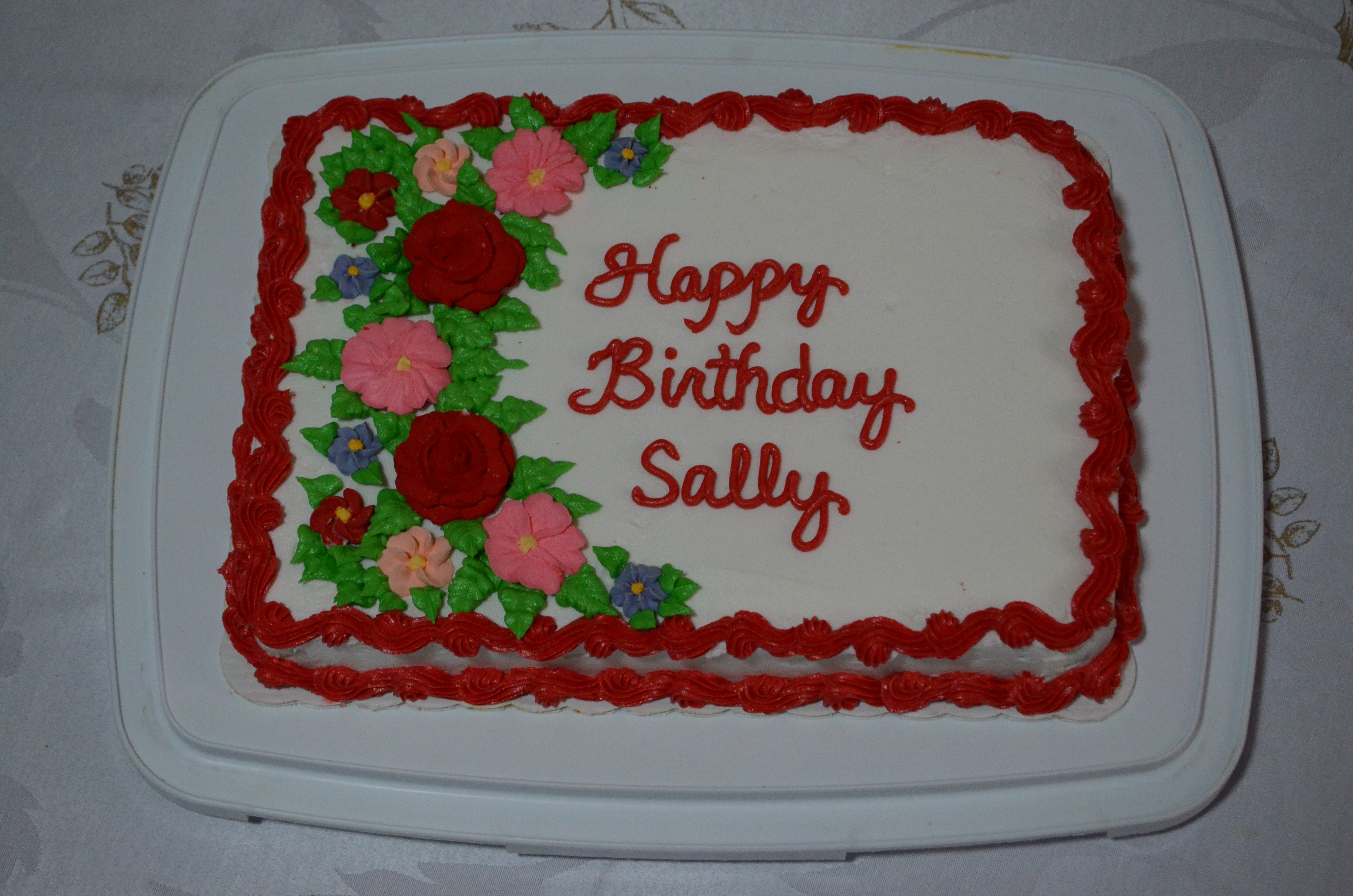 Happy Birthday Sally Cakecentral