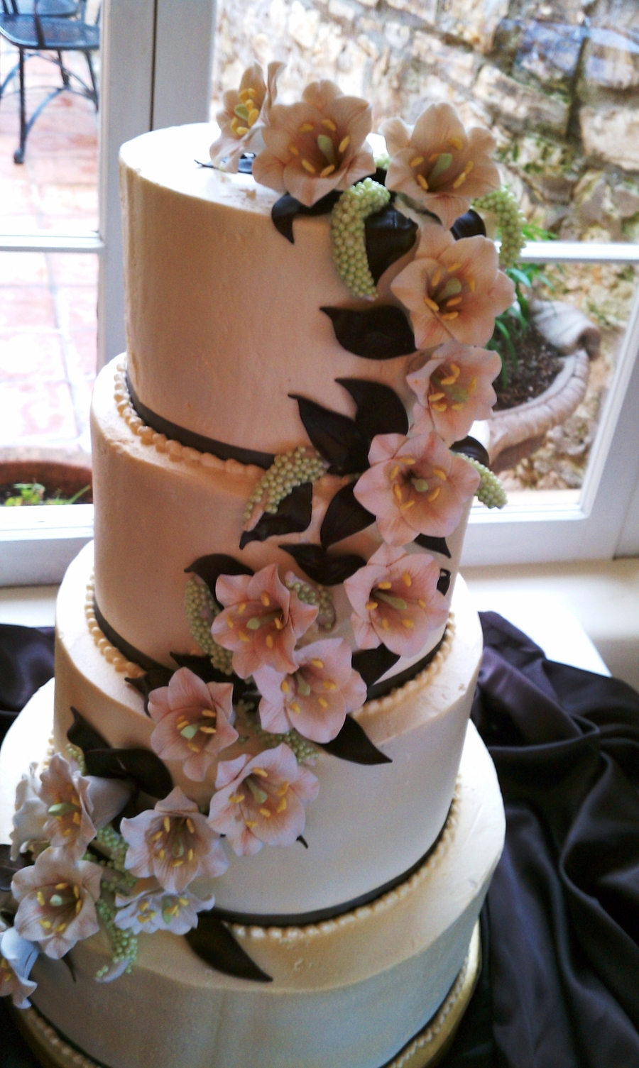 Buttercream Cake With Fondant Flowers on Cake Central