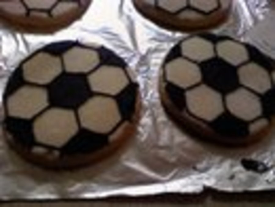 Soccer Ball Cookies on Cake Central