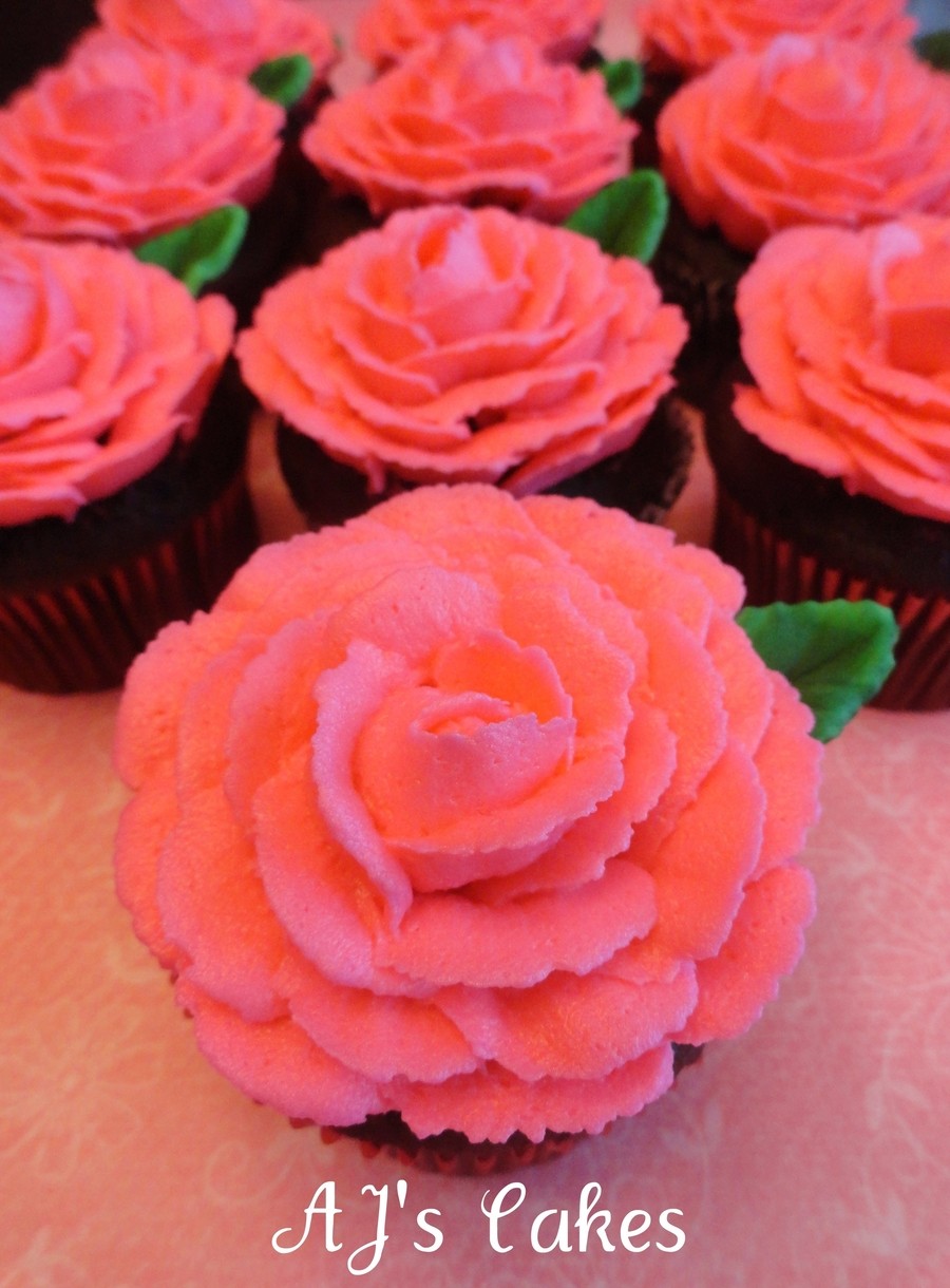 Pink Rose Cupcakes Cakecentral