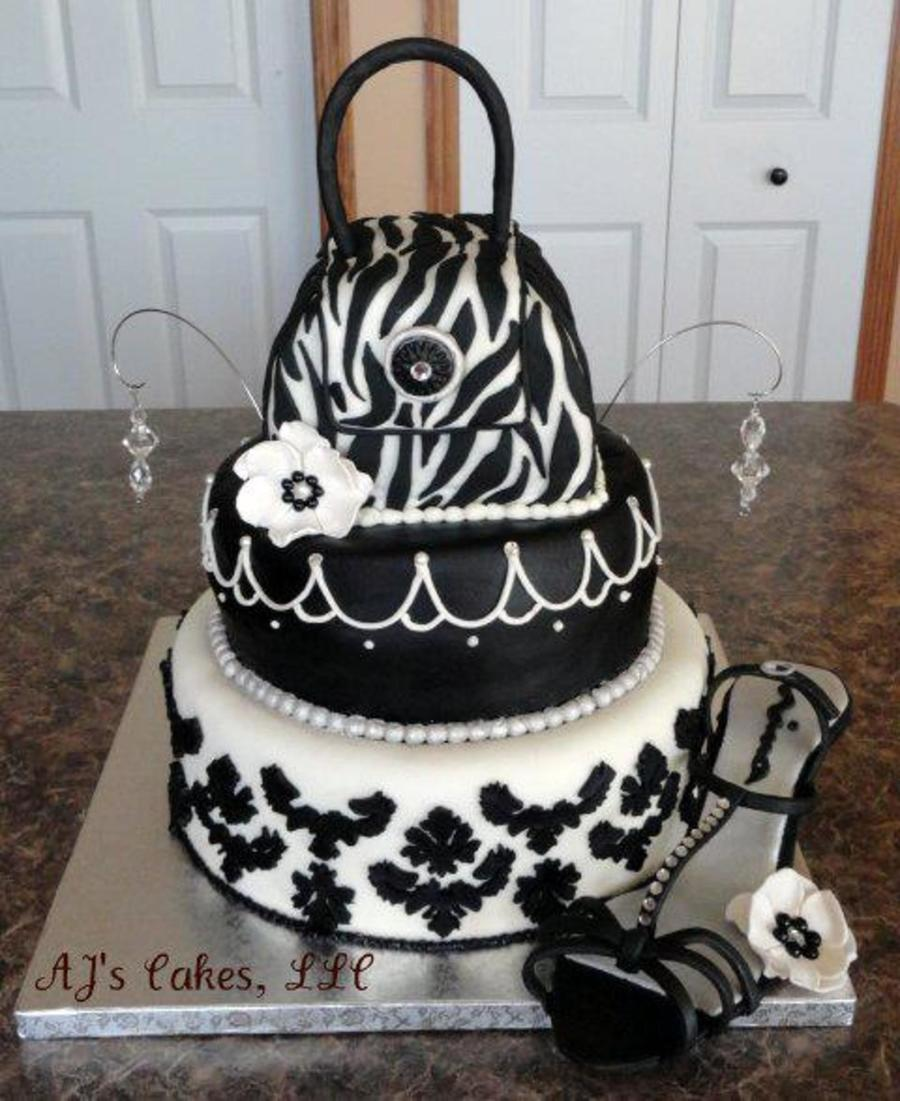 Black And White Bling Cake Cakecentral Com