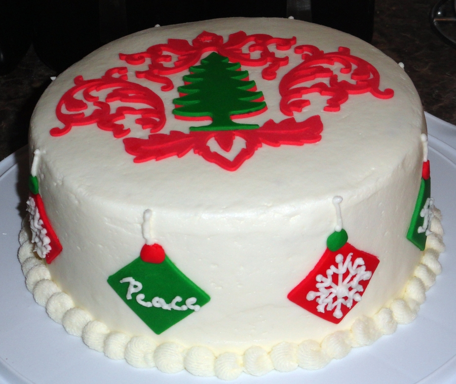 Christmas Damask Cake on Cake Central