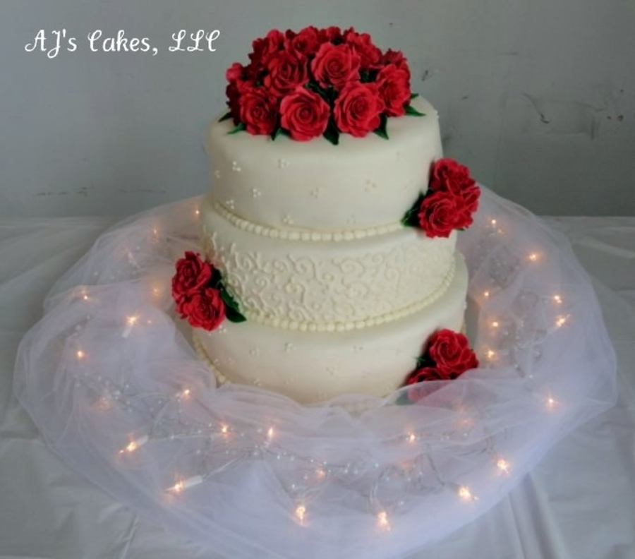wedding cakes red wedding cake cakecentral 25346