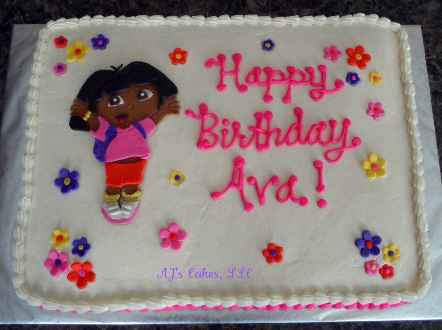Choc Birthday Cake Dora