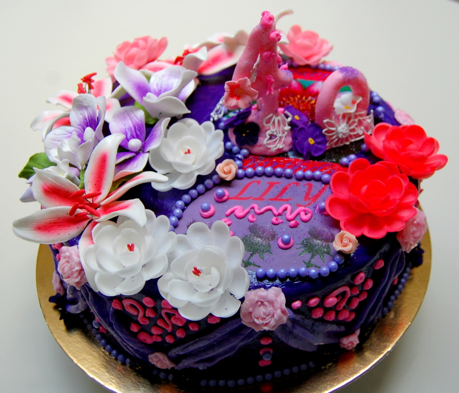 Birthday Cake For 40th Birthday Woman India Motif Cakecentral