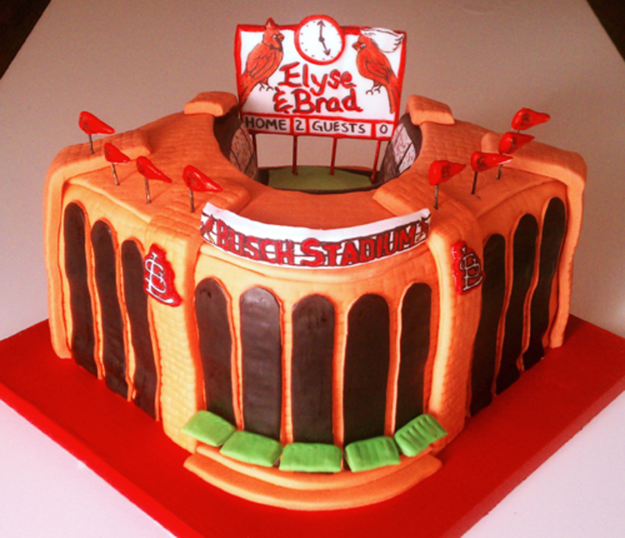 St Louis Cardinals Busch Stadium Cake On Central