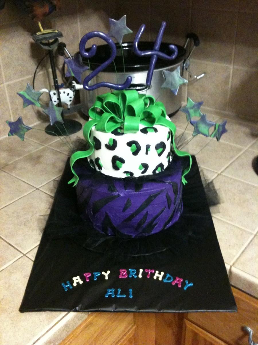 Groovy Wild Neon Birthday Cake Cakecentral Com Birthday Cards Printable Riciscafe Filternl