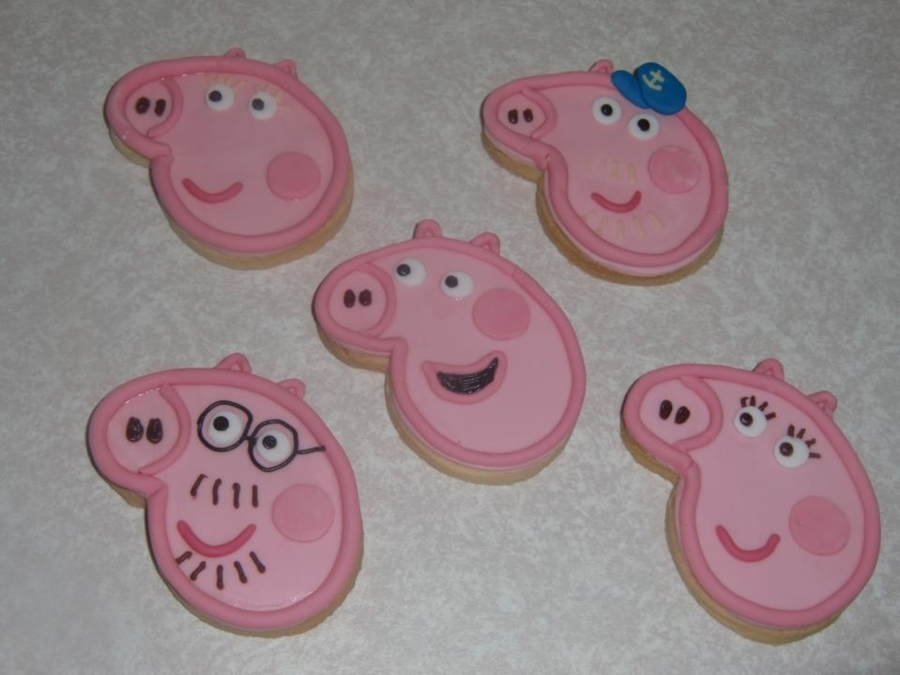 Peppa Pig Cookies on Cake Central