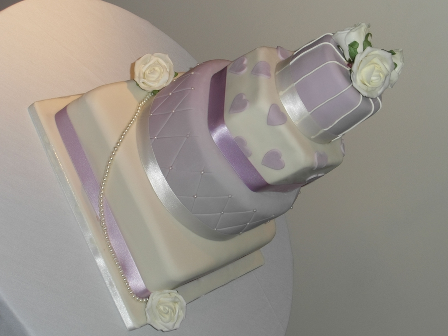 Lilac Wedding Cake on Cake Central