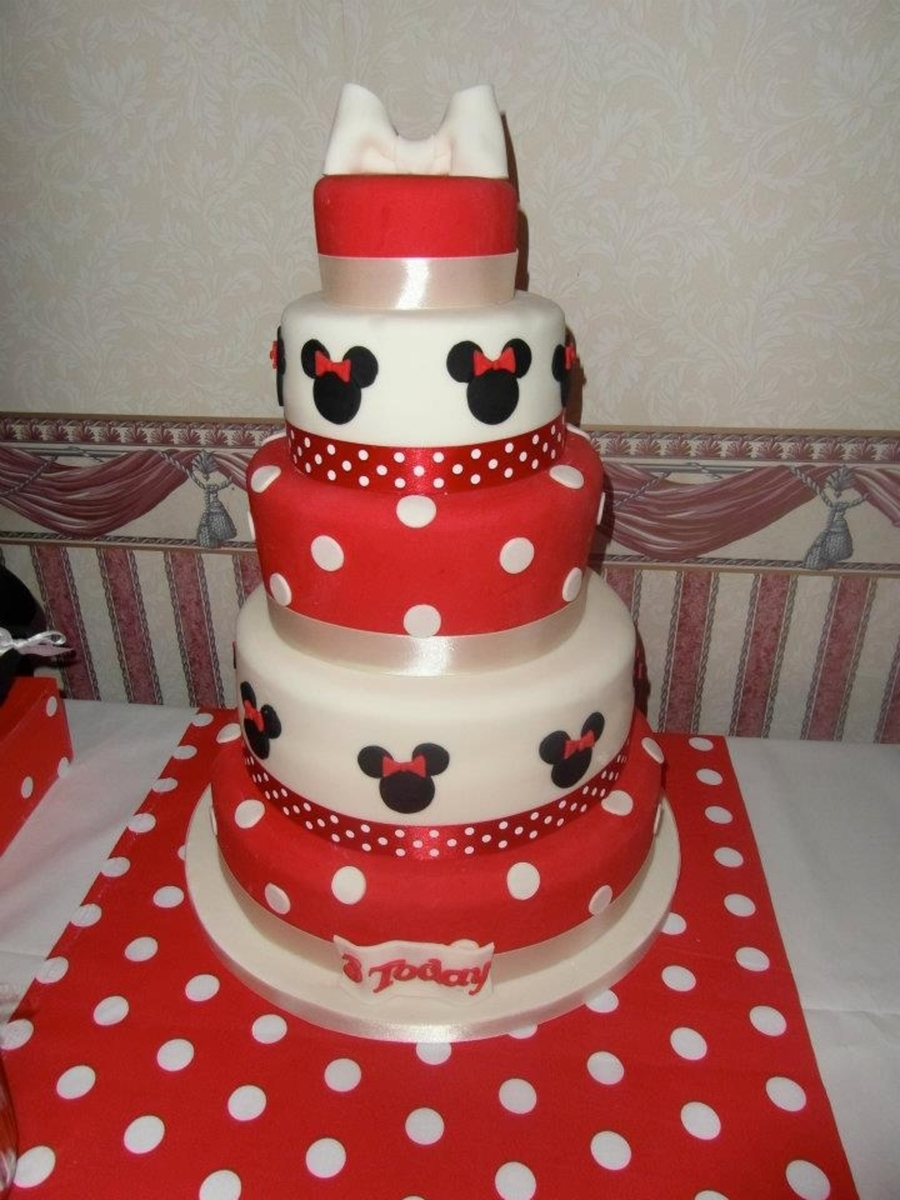 Minnie Mouse Cakes For Rd Birthday