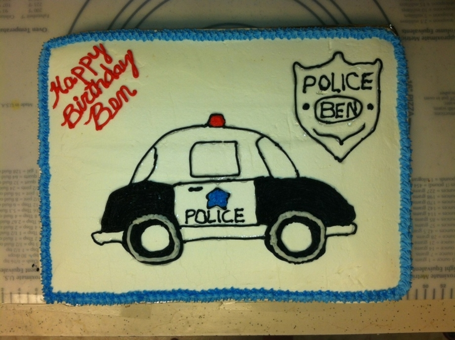 Police Theme Cake on Cake Central