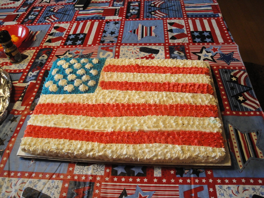 American Flag on Cake Central