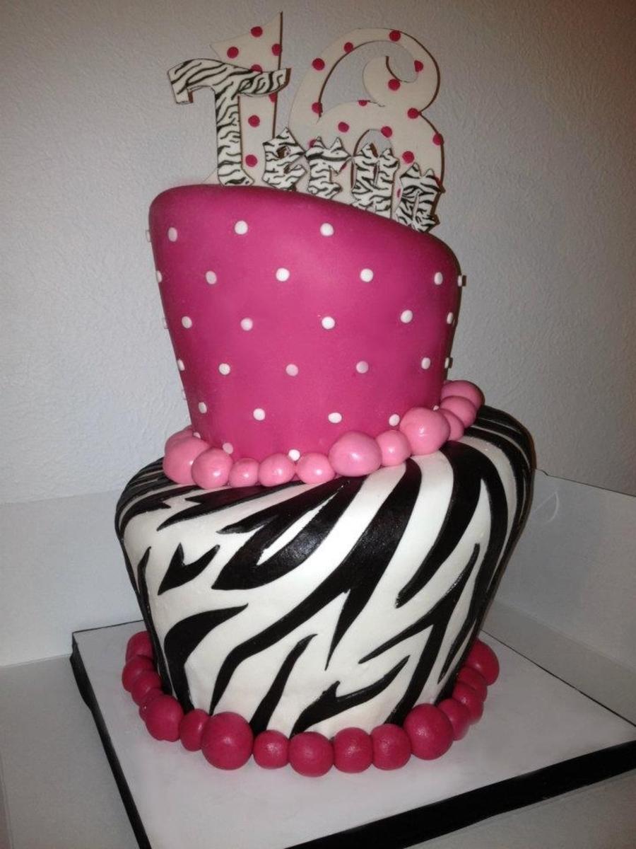 Zebra Topsy Turvy Cakes