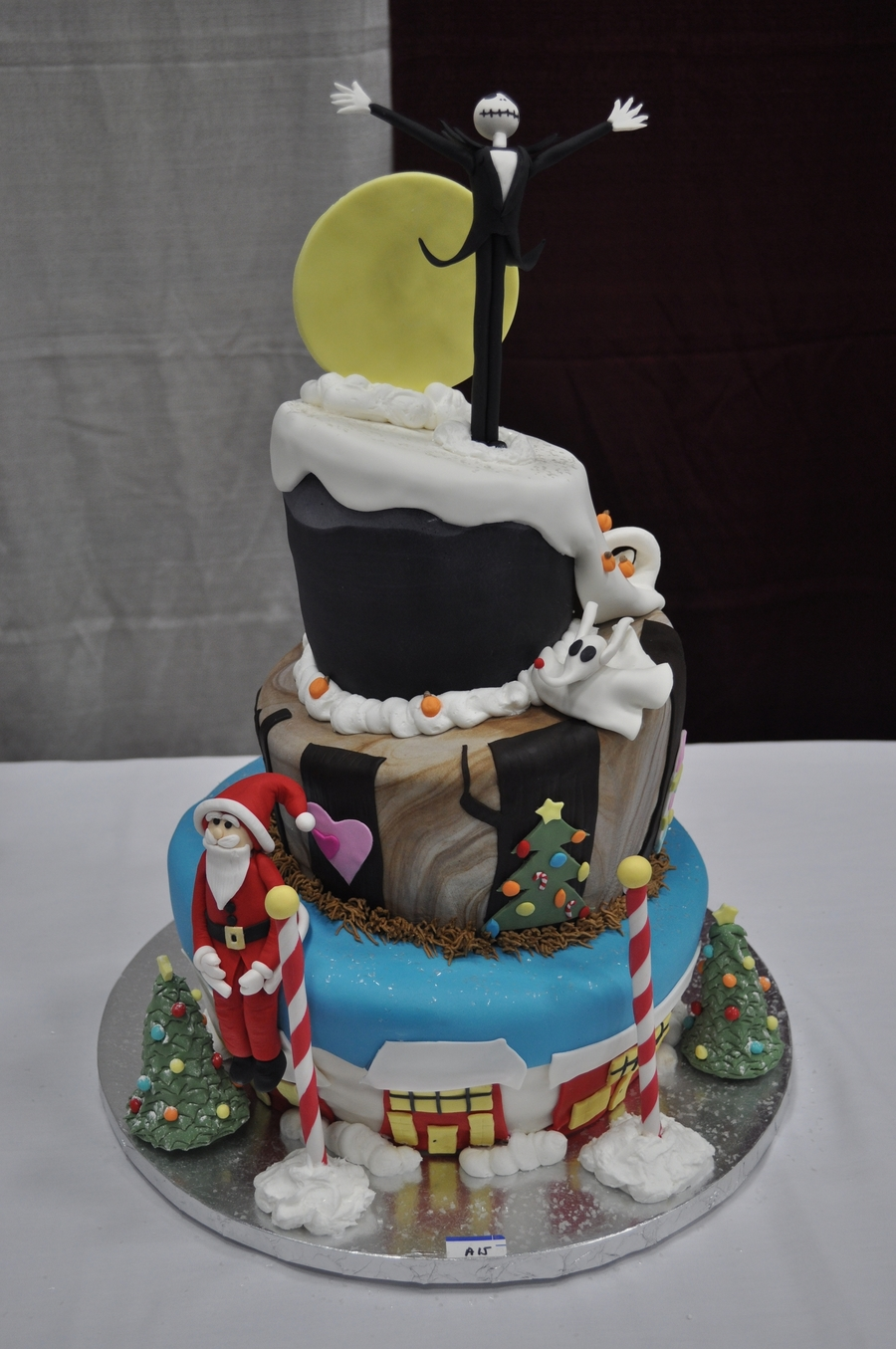 nightmare before christmas cake nightmare before cake cakecentral 6164
