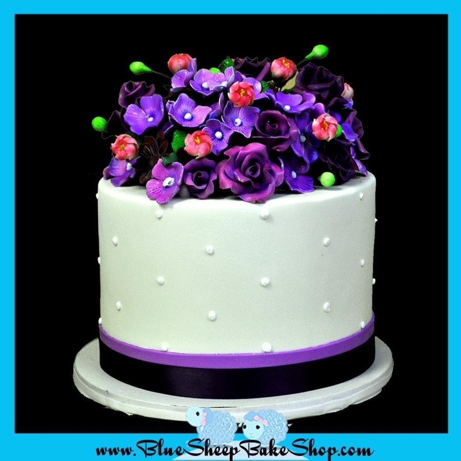 Purple Hydrangea Cake Topper
