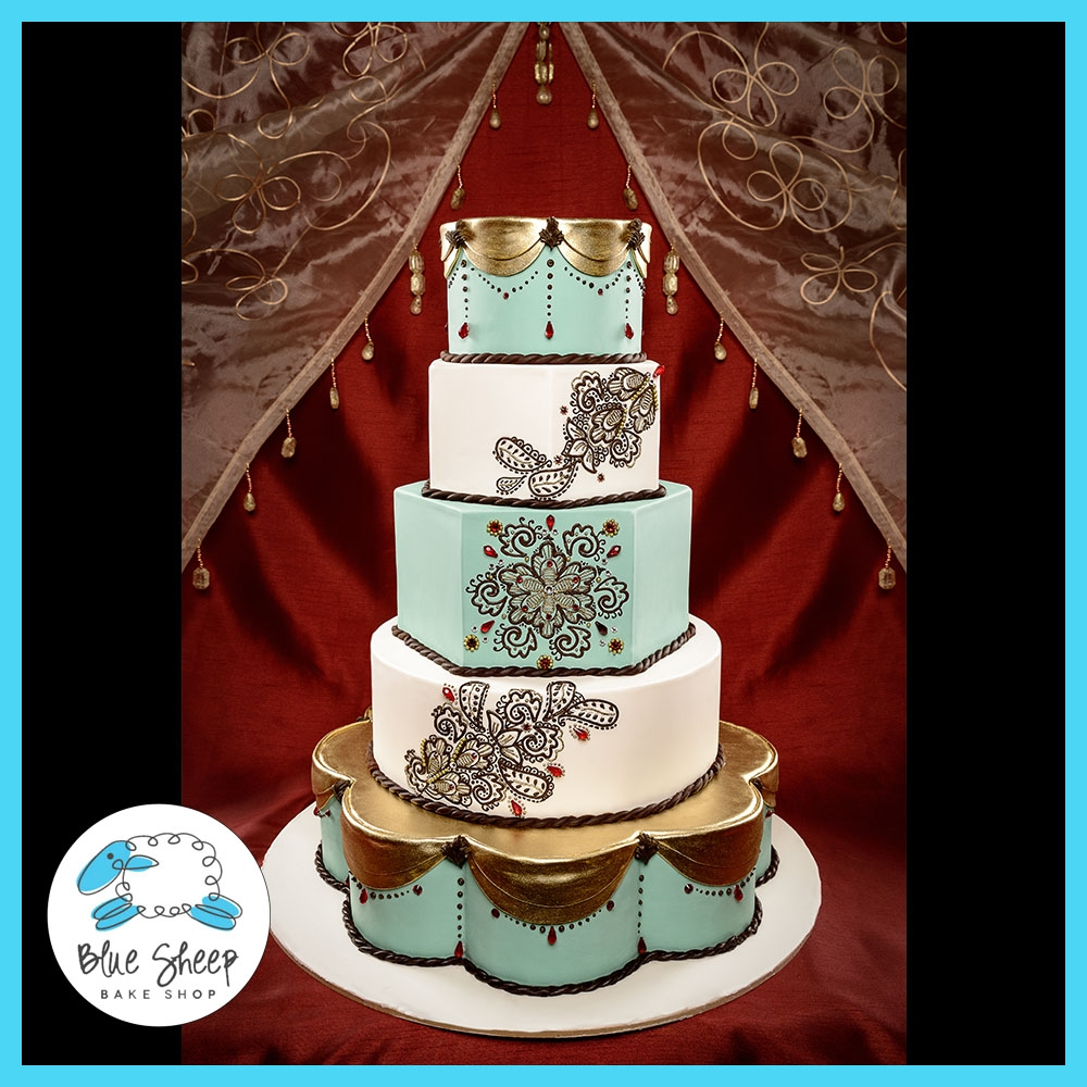Henna Inspired Wedding Cake Cakecentral Com