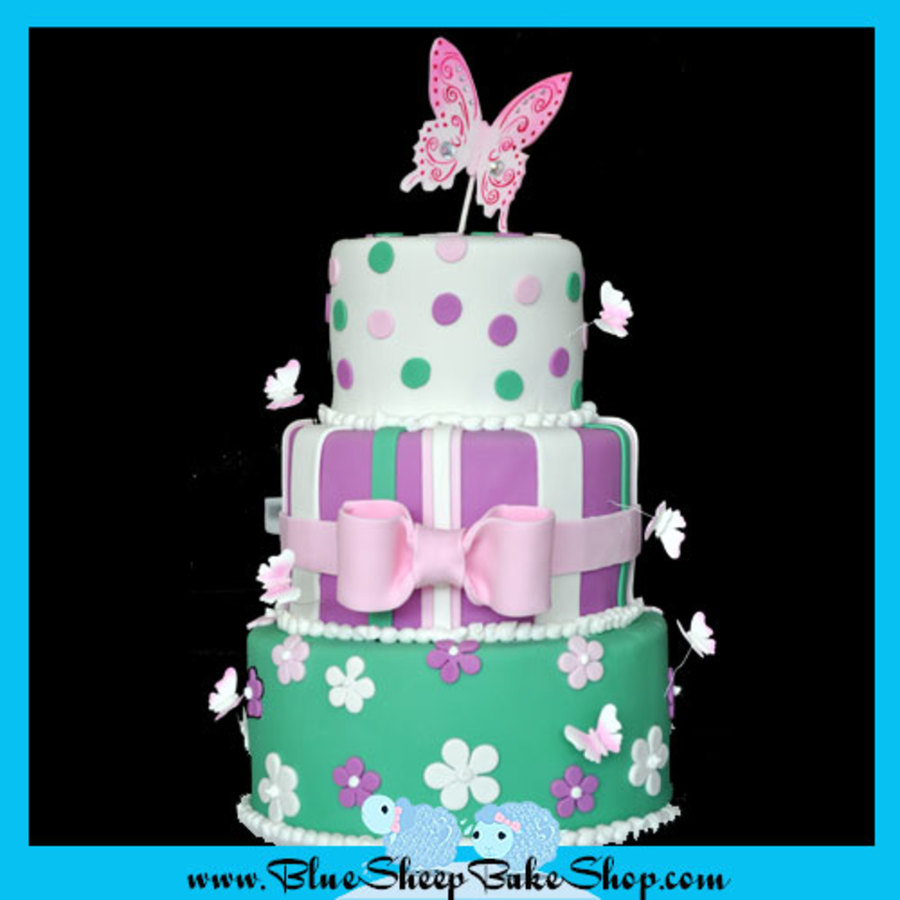 Butterfly Baby Shower Cake on Cake Central