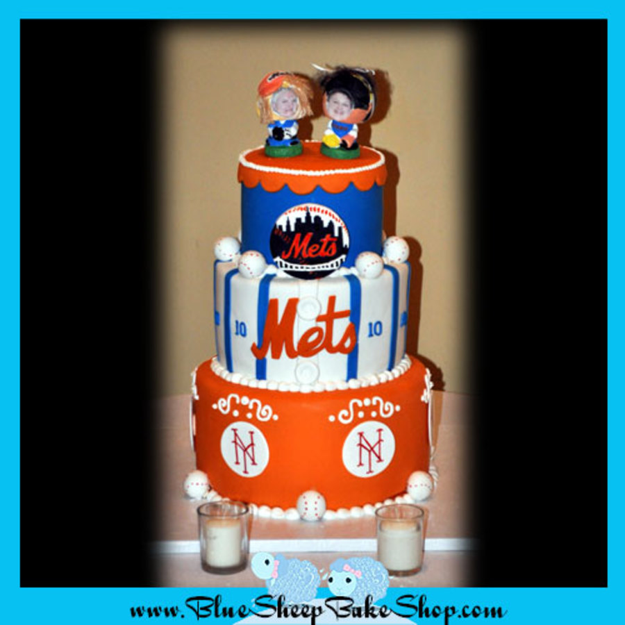 Mets Themed Cake on Cake Central