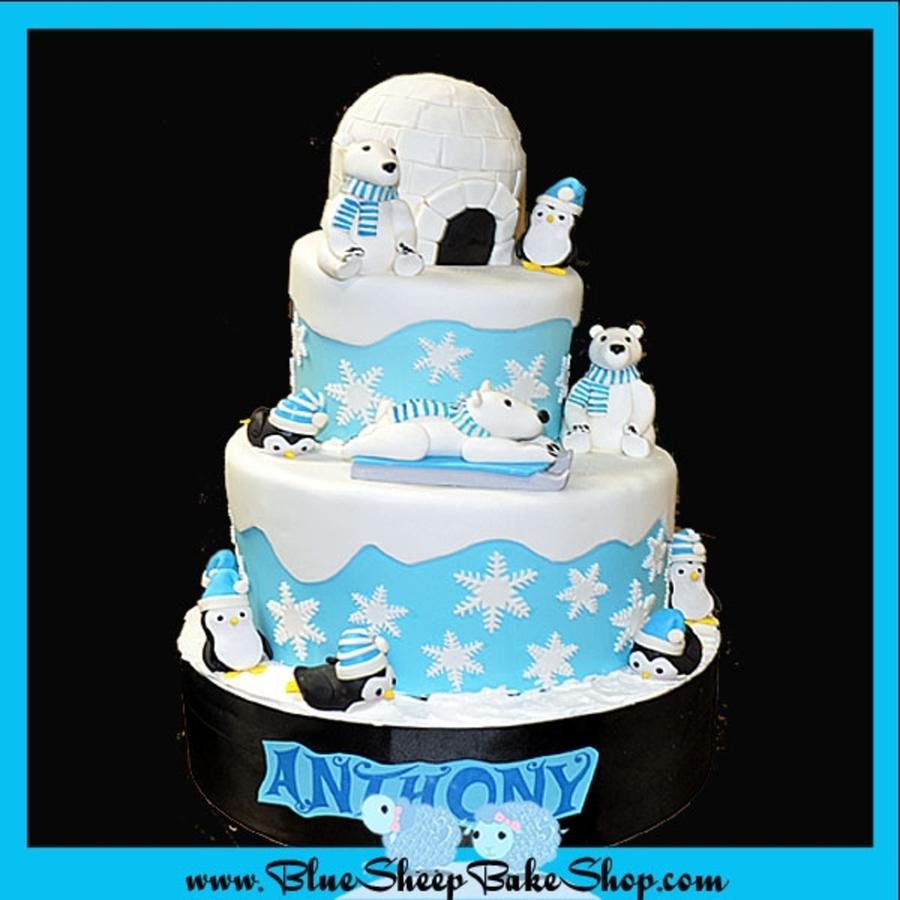 Winter Wonderland 1st Birthday Cake Cakecentral Com