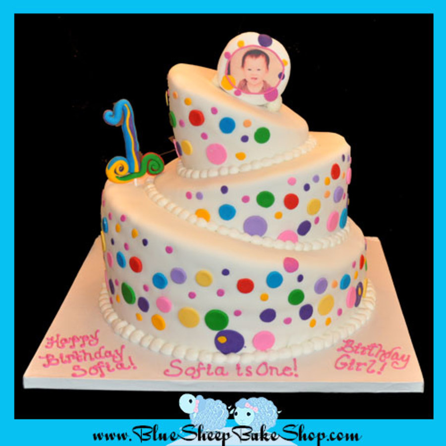 Stupendous Polka Dots 1St Birthday Cake Cakecentral Com Funny Birthday Cards Online Fluifree Goldxyz