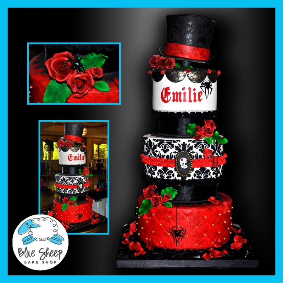 Dark Romance Gothic Inspired Cake on Cake Central