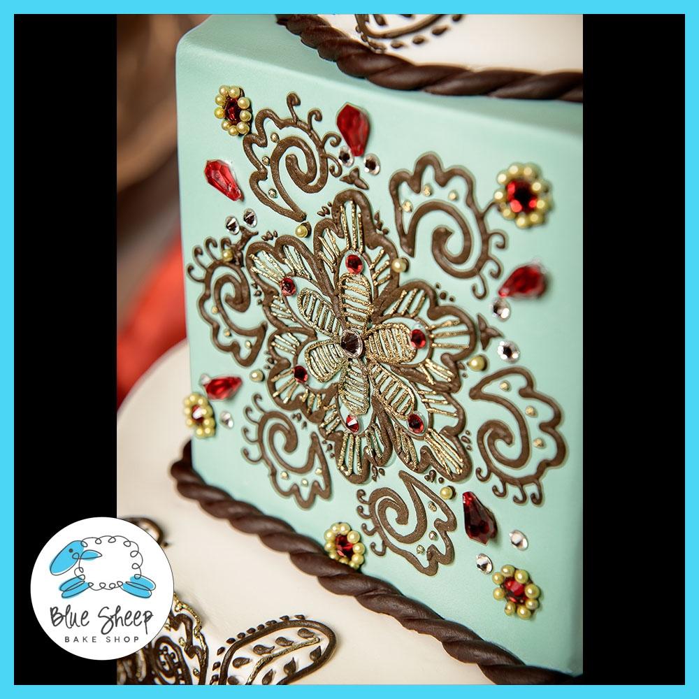 Mehndi Inspired Cake : Henna inspired wedding cake cakecentral