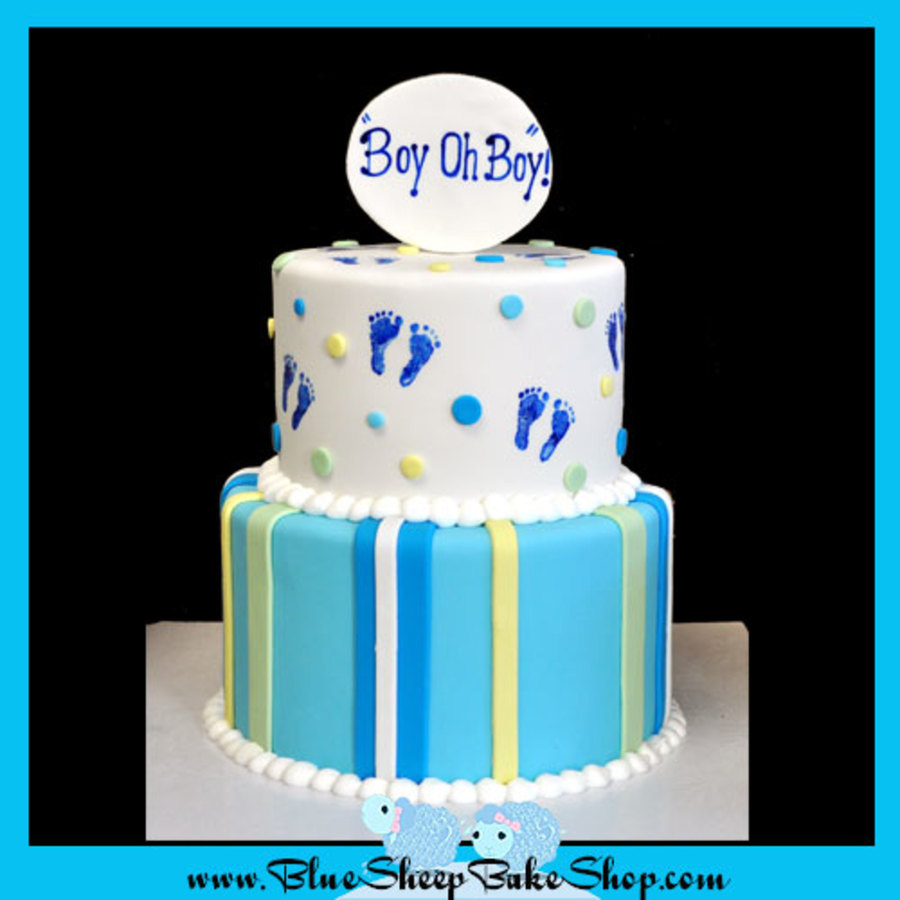 Boy, Oh Boy Baby Shower Cake on Cake Central