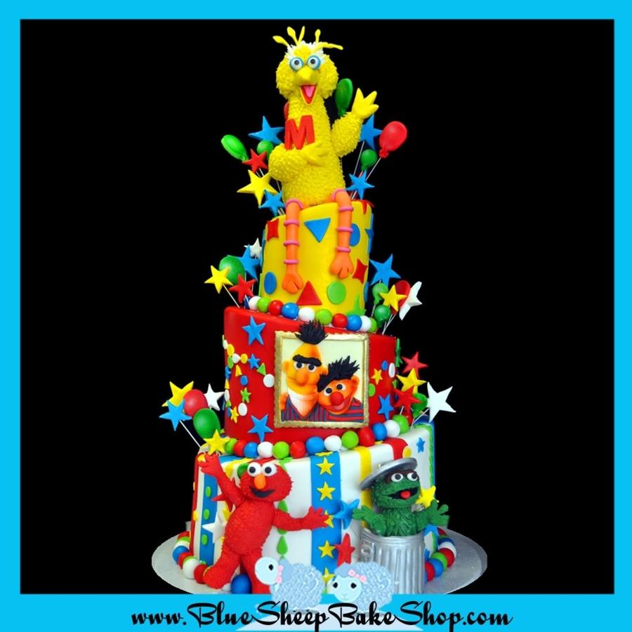 Sesame Street 1st Birthday Cake Cakecentral Com