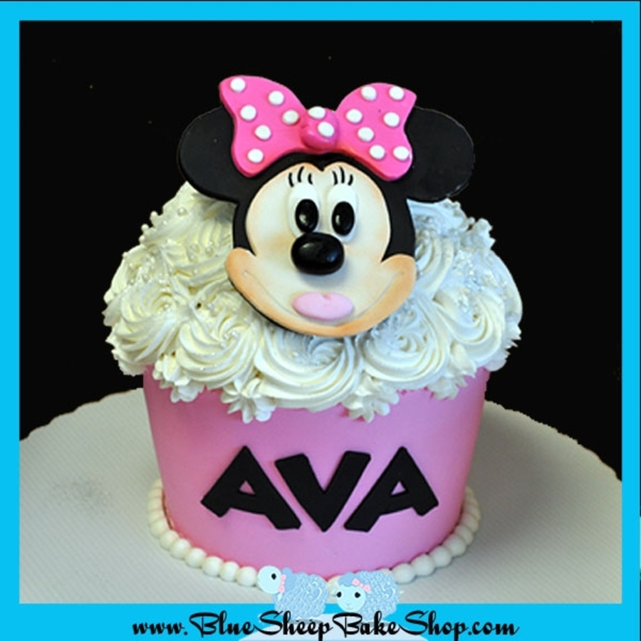 Minnie Mouse Giant Cupcake Cake on Cake Central
