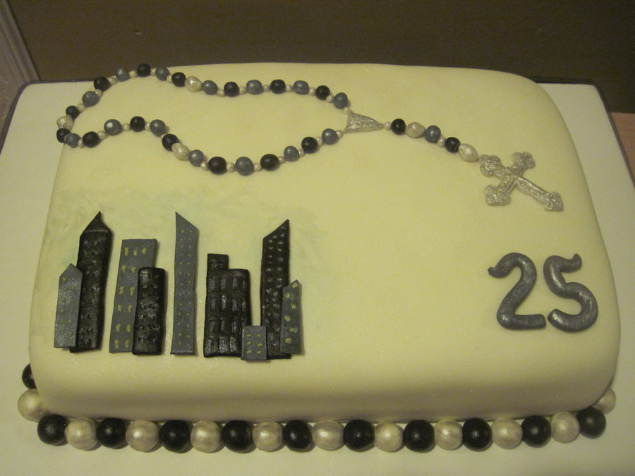 Cake Decoration Rosary Beads : Rosary Bead/ New York Birthday Cake - CakeCentral.com