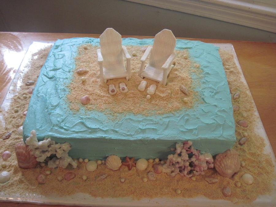 oceanbeach theme bridal shower cake on cake central