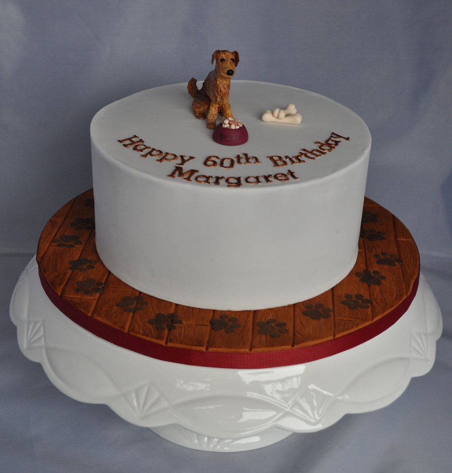 Dog Themed Birthday Cake - CakeCentral.com