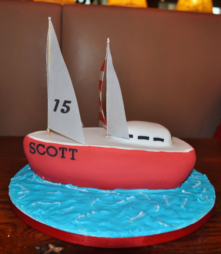 Sail Boat Cake on Cake Central