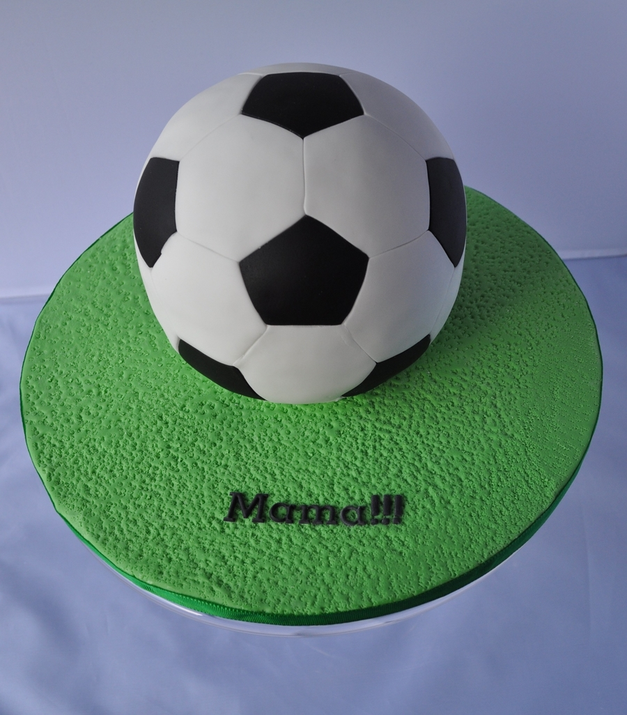 My 1St Football Cake on Cake Central