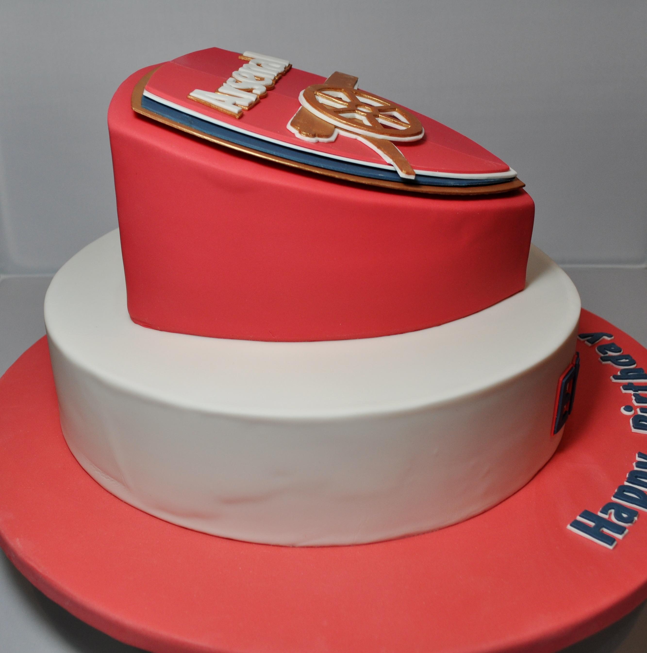 Arsenal Themed Birthday Cake - CakeCentral.com