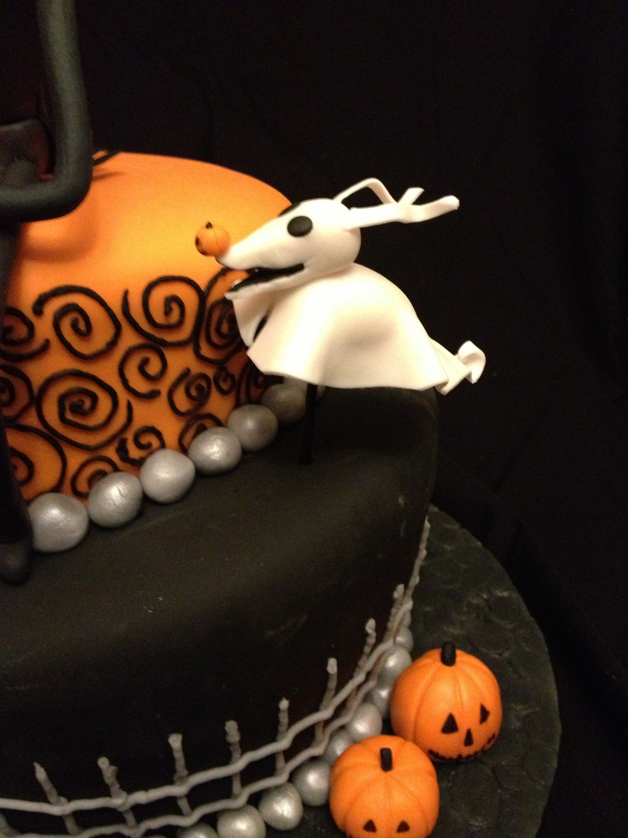 Nightmare Before Christmas Themed Birthday Cake This Design Was Recreated From A Photo That Requested I Made Few Changes But The Overall
