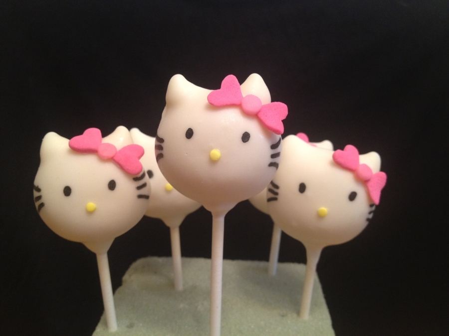 Hello Kitty Cake Pops! - CakeCentral.com