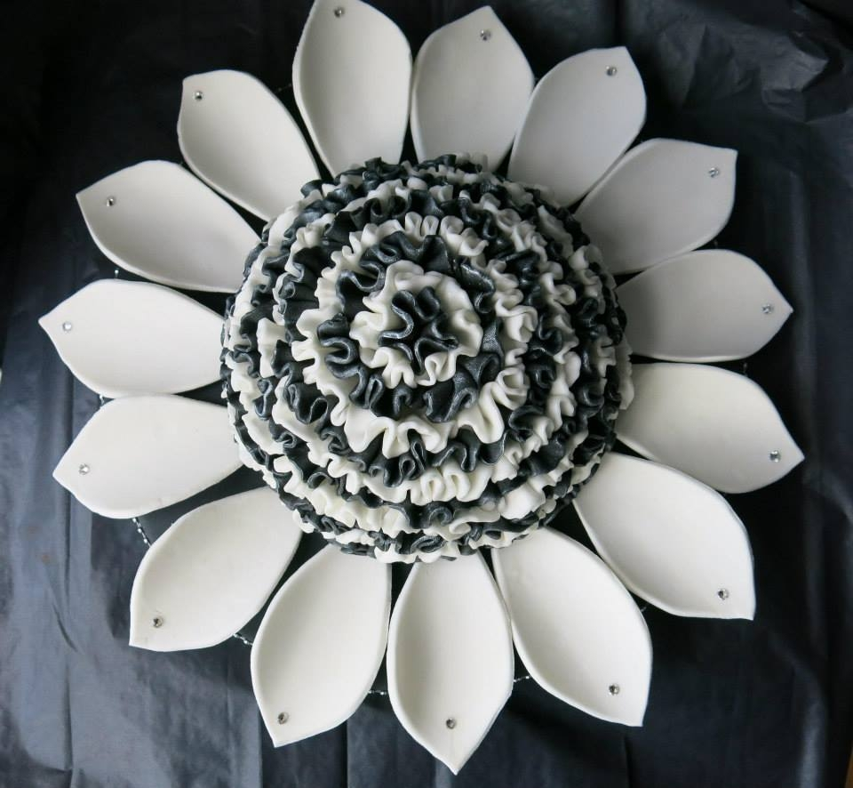 Black And White Flower Cakecentral