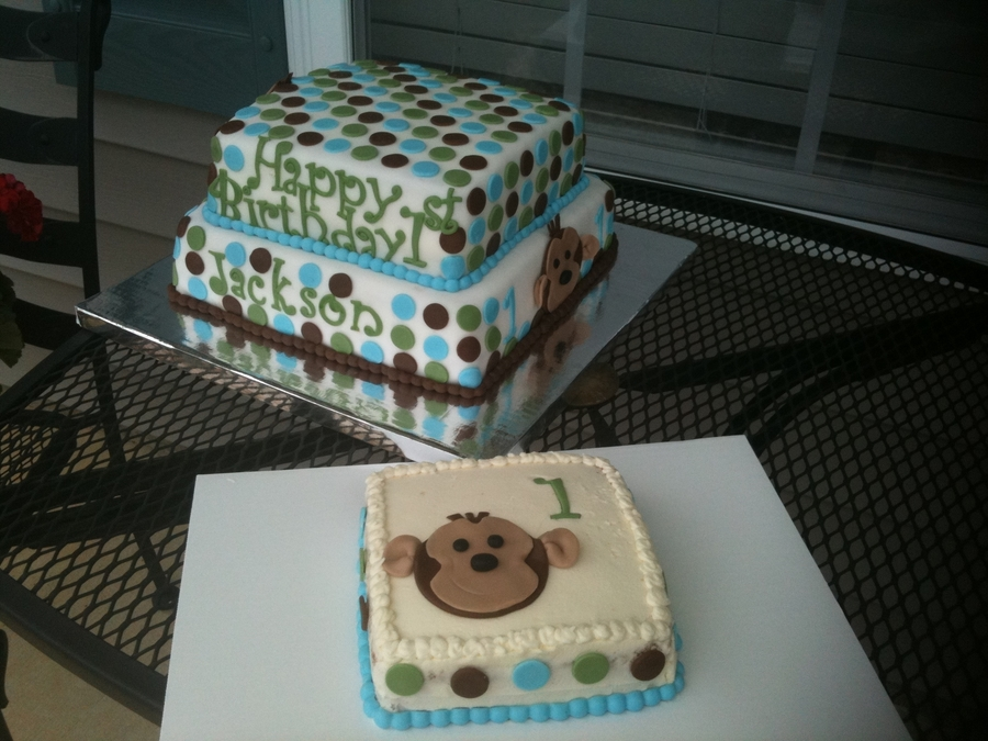 Monkey 1St Bday And Smash Cake on Cake Central