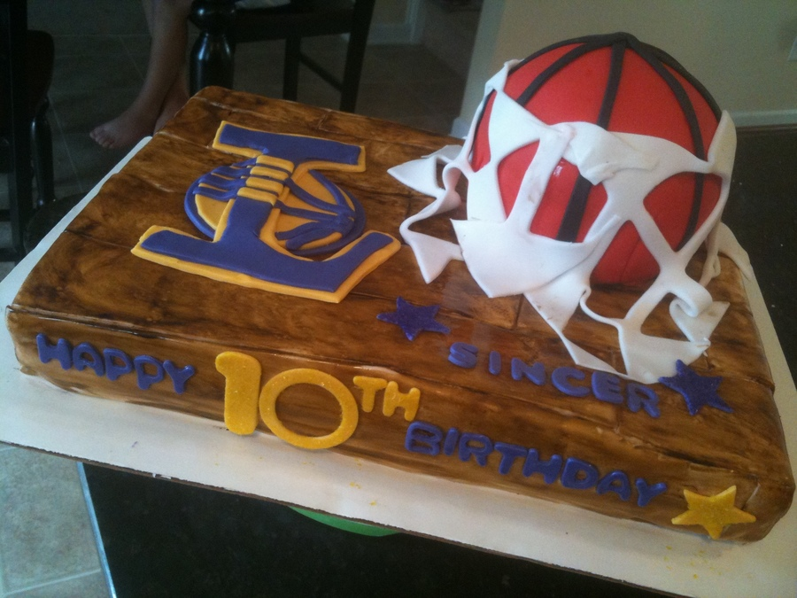 Marvelous Lakerish Basketball Birthday Cake Cakecentral Com Funny Birthday Cards Online Inifofree Goldxyz