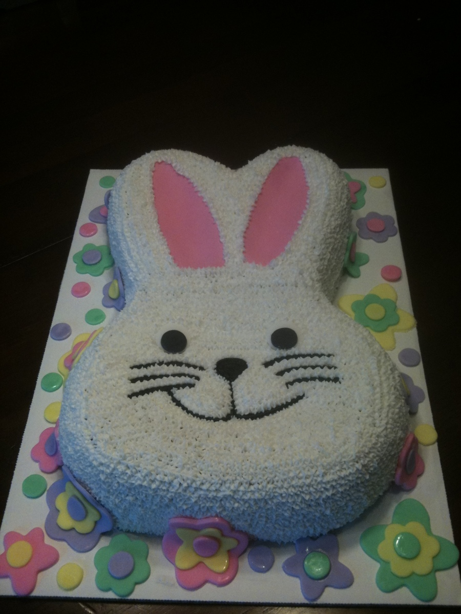 Bunny With Flowers on Cake Central
