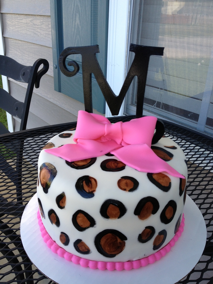 "Leopard ""m"" First Bday Cake on Cake Central"
